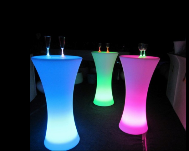 Illuminated Poseur Table hire