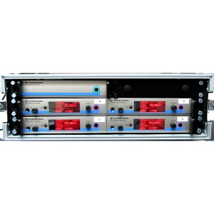sennheiser radio mic rack hire