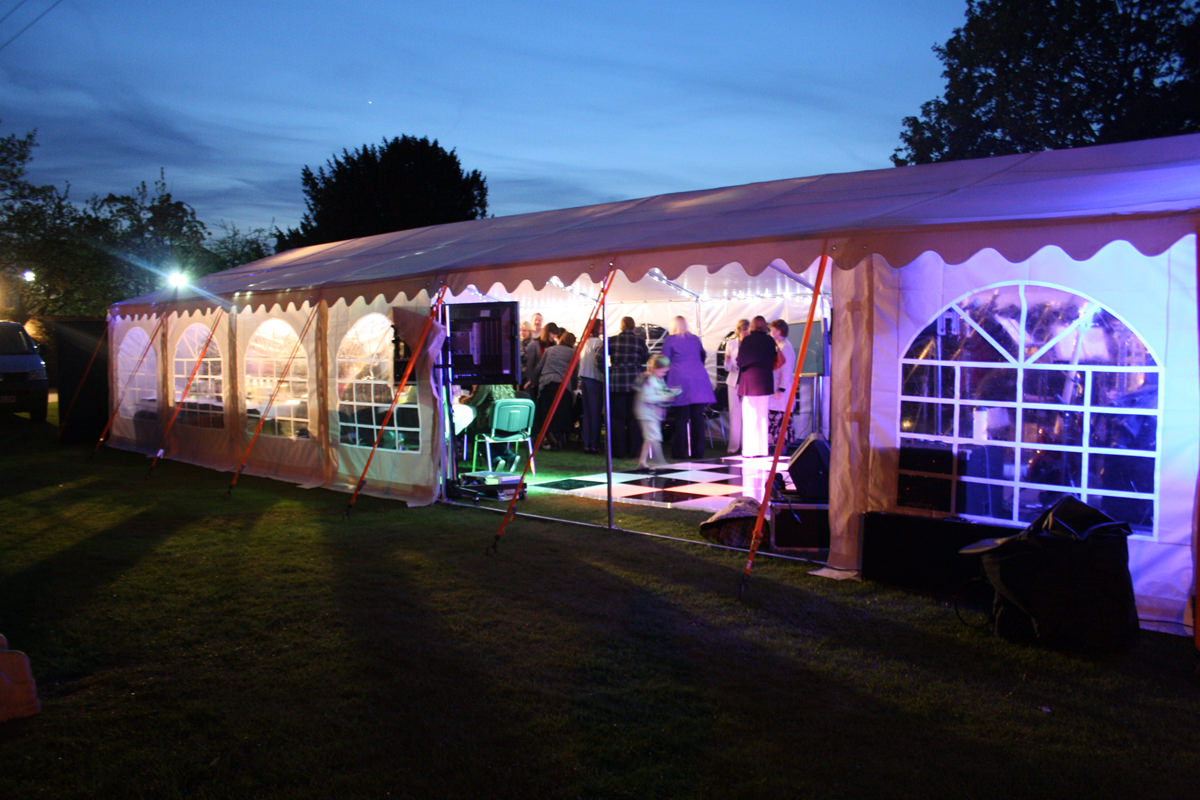 Clearspan marquee hire